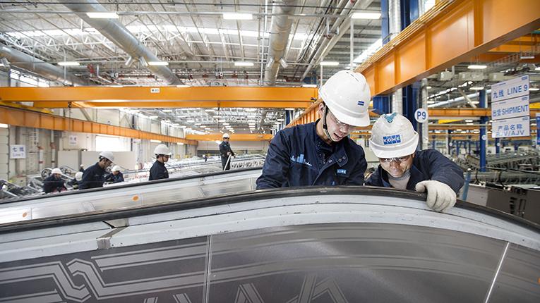 Kone on saanut vuoden 2016 ensimmäisten kuukausien aikana jo kuusi tilausta eri puolilta Kiinaa. Joukkoon kuuluu projekteja pilvenpiirtäjistä joukkoliikenneverkostoprojekteihin. Kuva: Kone Corporation